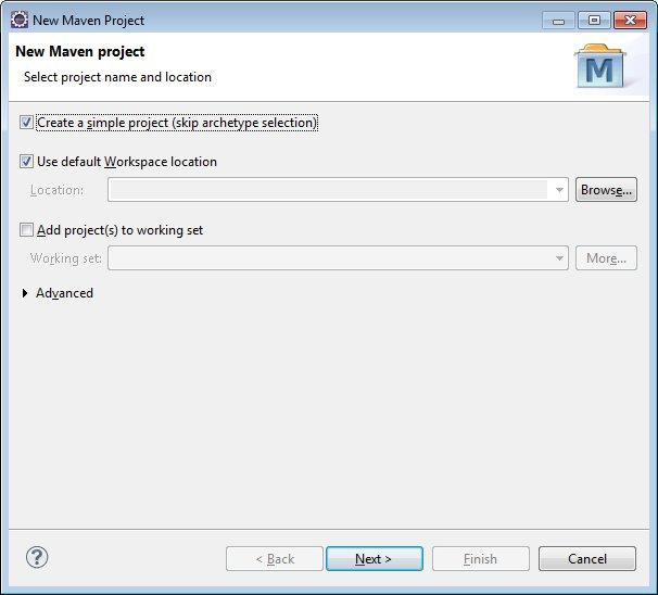 Create a simple maven project