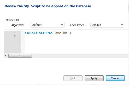 Apply SQL Script