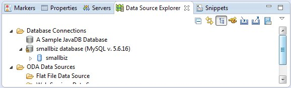 Eclipse Coneected to Database