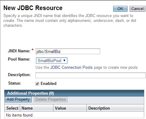 New JDBC Resource