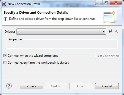 Specify a Driver Connection Detail