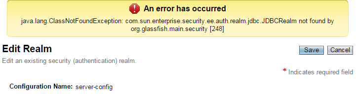 com.sun.enterprise.security.ee.auth.realm.jdbc.JDBCRealm not found